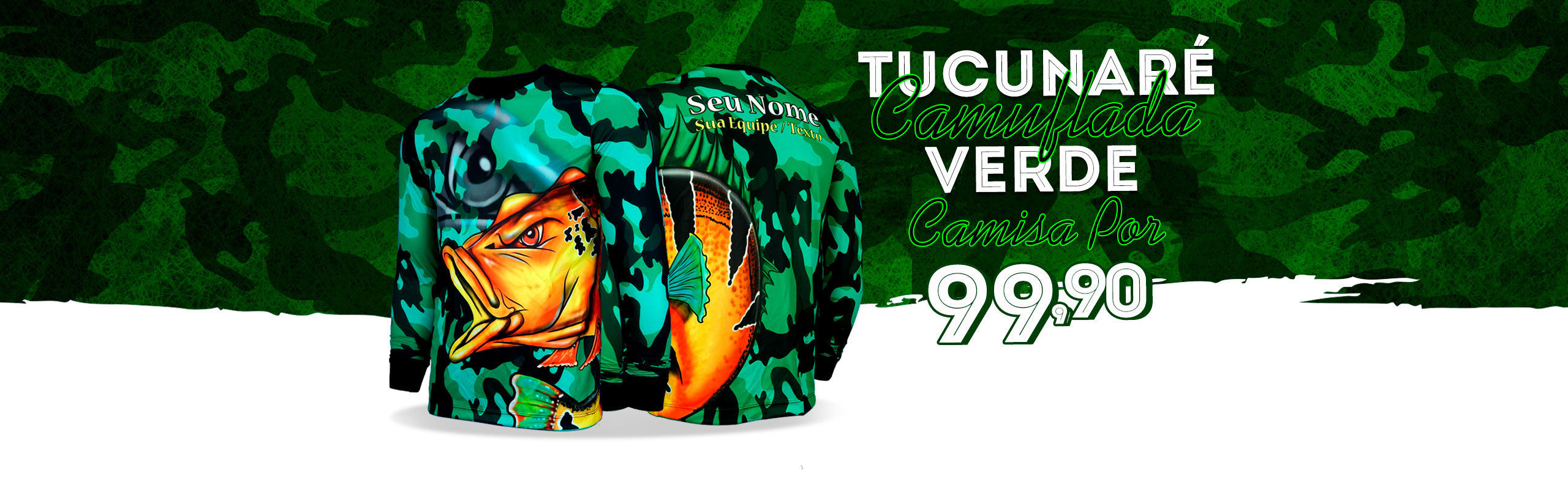 Tucunaré Camuflada Verde