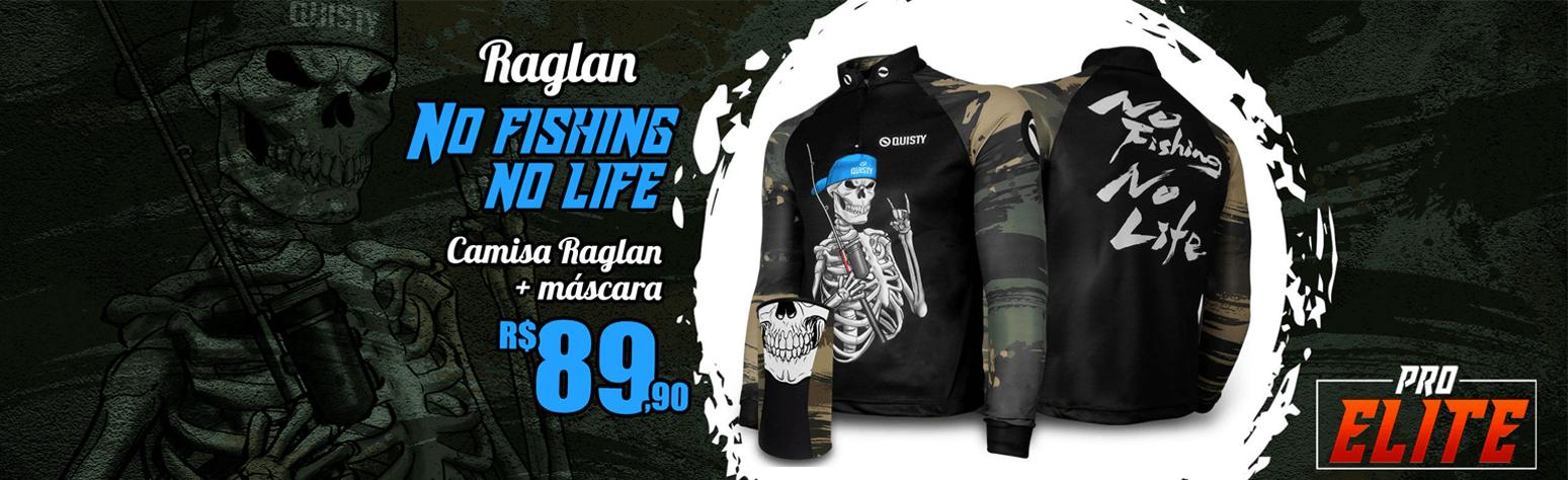 Camisa Raglan No Fishing No Life Banner