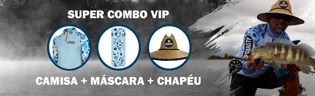 Super Combo VIP(gola padre+máscara+chapéu palha importado)