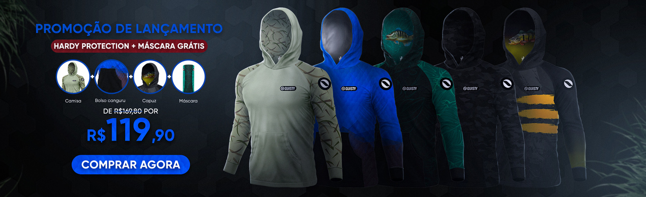 Combo Hardy Protection(camisa capuz bolso + máscara)