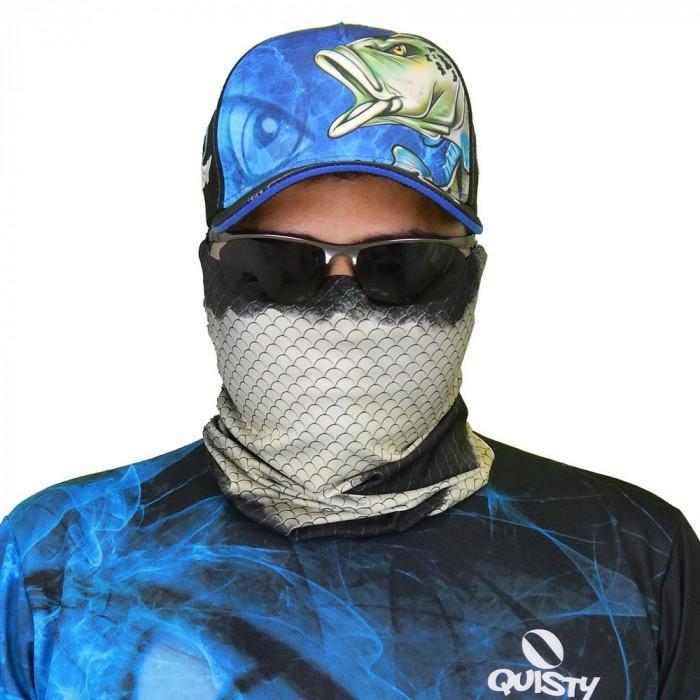 Máscara de Proteção Solar Tucunaré Azul Pesca Esportiva UV PROTECTION - Pesca Esportiva