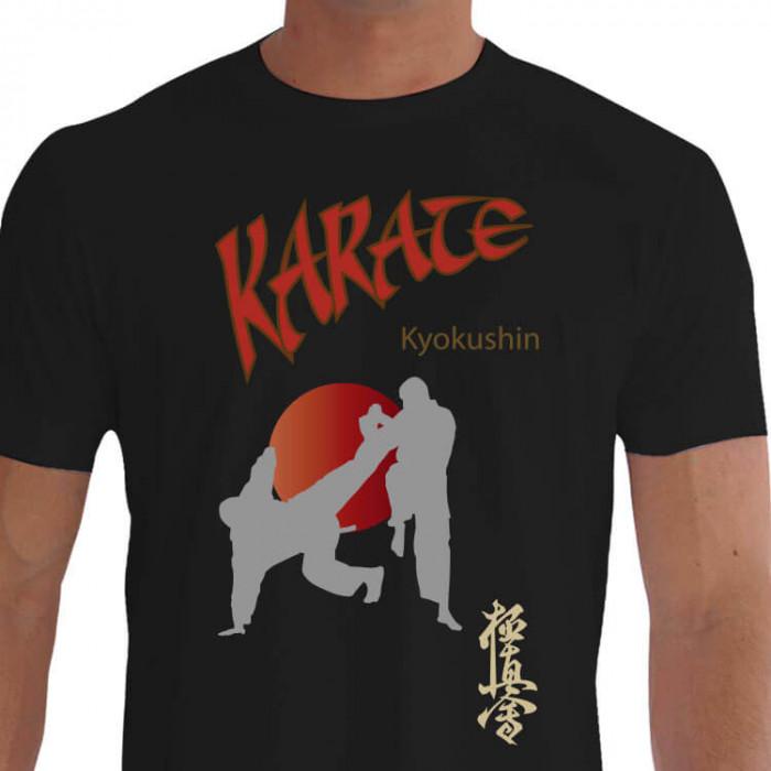 Camiseta - Karatê - Estilo Kyokushin Karatecas Buscando Golpe Ichigeki Kanji