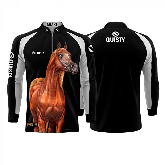 Camisa Premium Pro Elite Cavalgada Árabe Alazão DryUv50+ + Punho de Luva