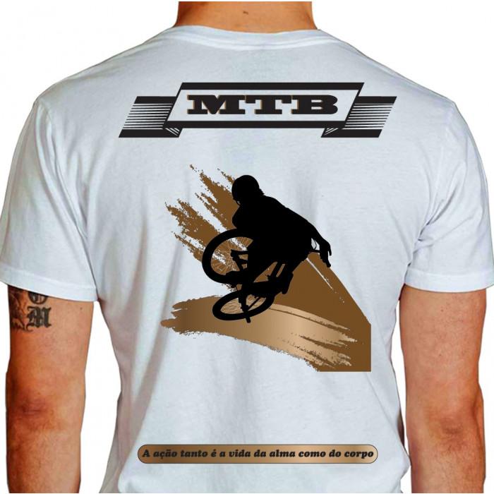 camiseta ath mountain bike - BRANCA