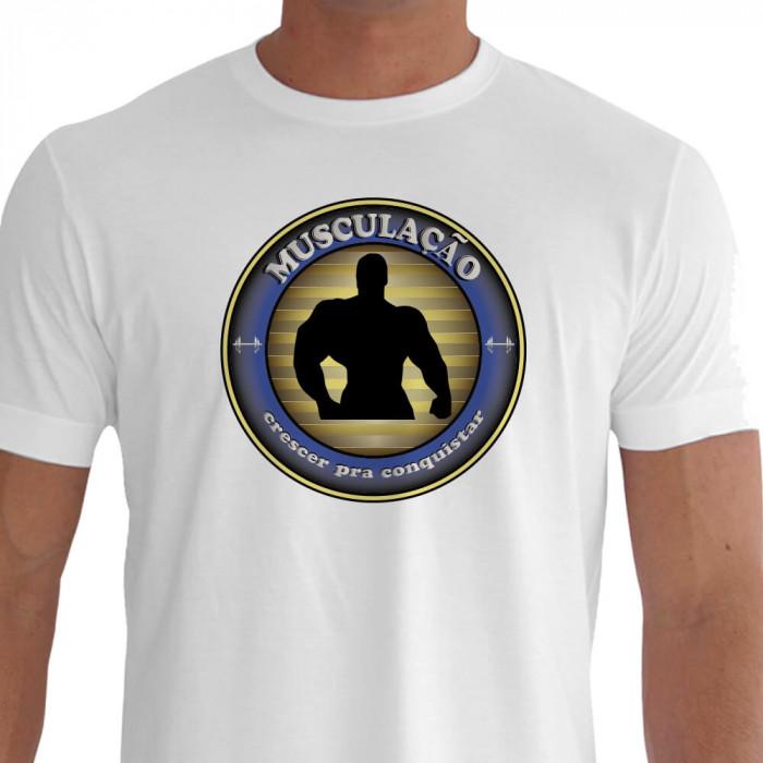 Camiseta CRESCER Musculação Branca