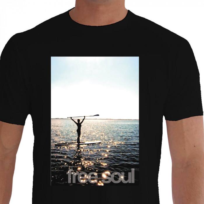 Camiseta - Stand Up Paddle - Viva a Vida Mulher Praticante de SUP Free Soul