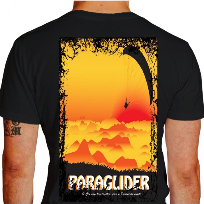 camiseta img paraglider - preta