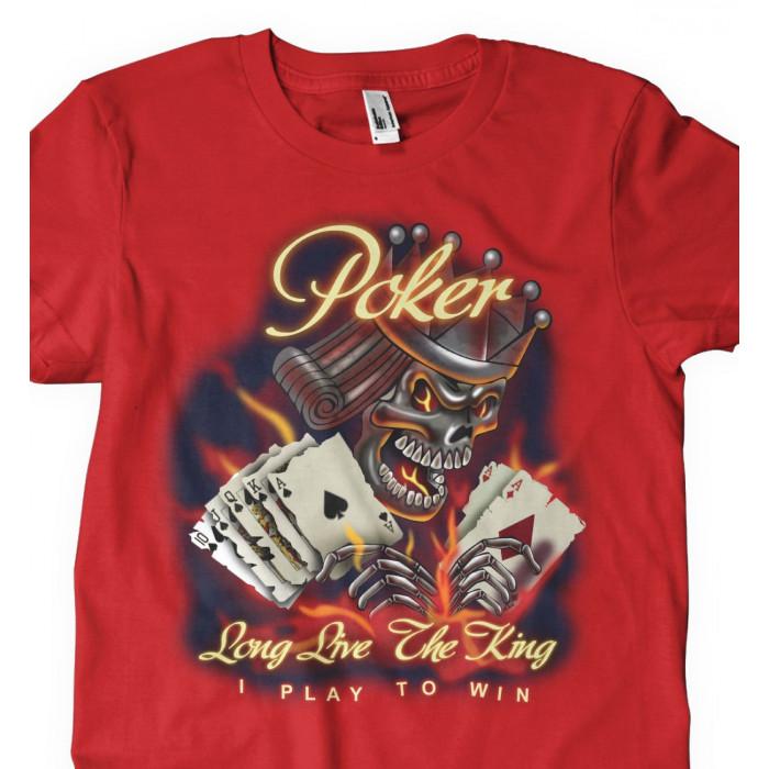 Camiseta Long Live Poker