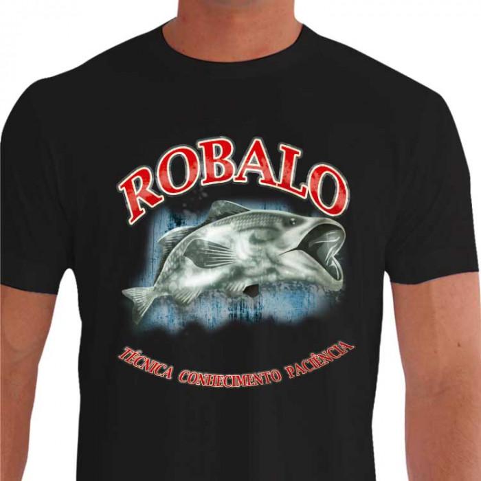 Camiseta - Pesca Esportiva - Peixe Robalo Técnica Conhecimento Paciência - preta