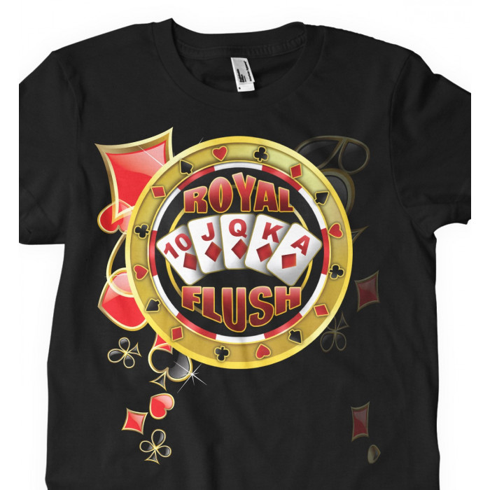 Camiseta Royal Flush Poker