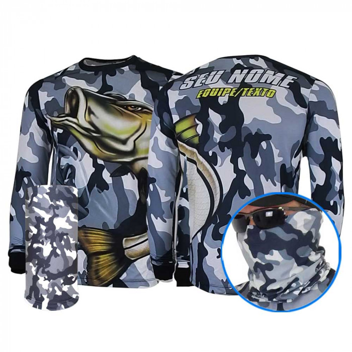 COMBO Robalo Arisco Camuflado - CAMISA E MÁSCARA DRY UV 50 PROTECTION