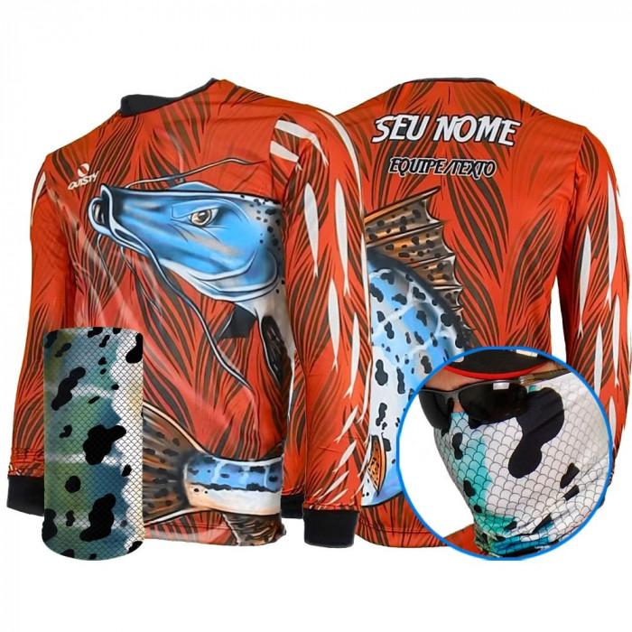 Combo Pintado Moleque - CAMISA E MÁSCARA DRY UV 50 PROTECTION