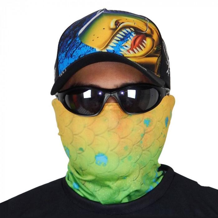 Máscara de Proteção Solar Escamas Dourado do Mar UV 50 PROTECTION - Pesca Esportiva