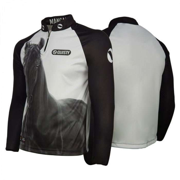 Camisa Premium Pro Elite Cavalgada Mangalarga Marchador DryUv50+ + Punho de Luva