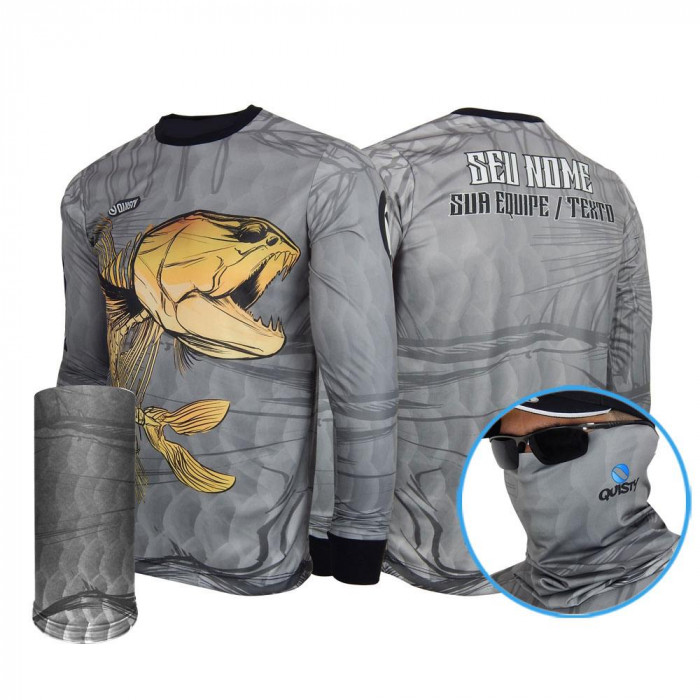 Combo Traíra Skull Fishing - CAMISA E MÁSCARA DRY UV 50 PROTECTION