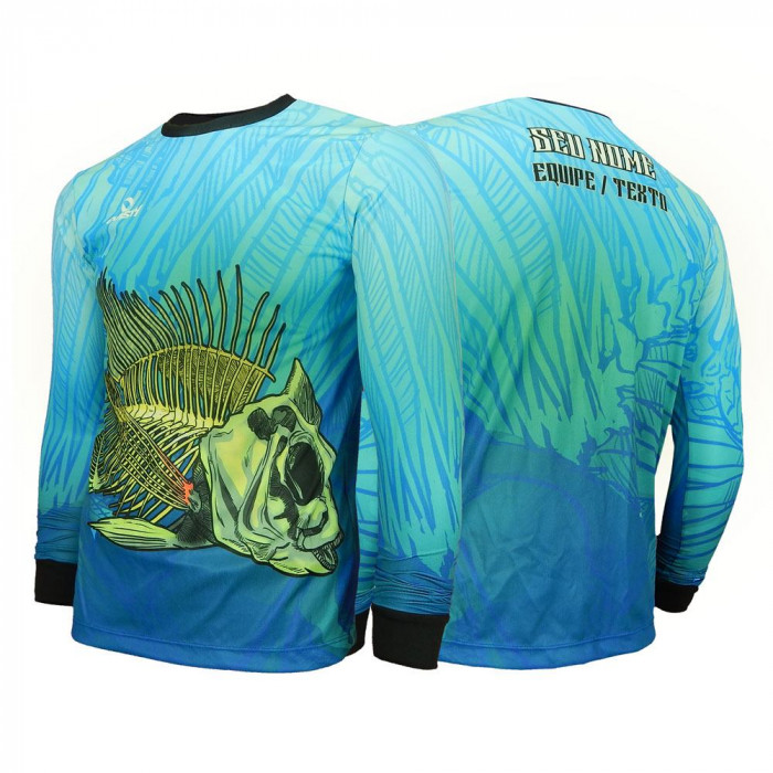 Camisa Tilápia Skull Fishing -Pesca Esportiva Dry UV Protection