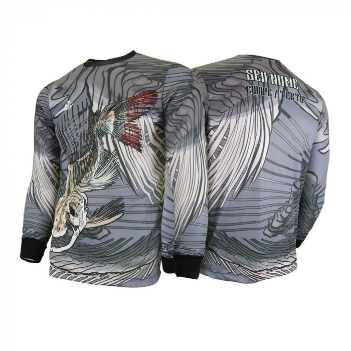 Camisa - Pesca Esportiva Pirarara Skull Fishing Dry UV Protection