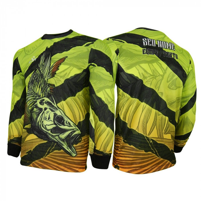 Camisa - Pesca Esportiva -Skull Fishing Tucunaré Dry UV Protection