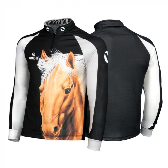 Camisa Pro Elite Cavalgada Quarto de Milha Black DryUv50+