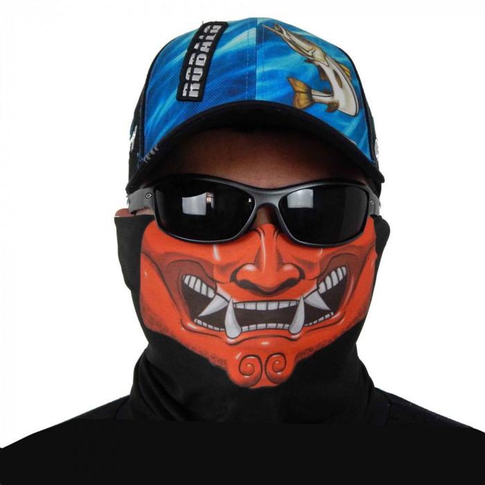 Máscara de Proteção Solar Buff Escamas Tucunaré UV 50 PROTECTION Frente Samurai