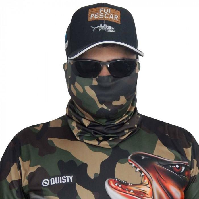 Máscara de Proteção Solar Traíra Força Bruta Camuflado Verde UV PROTECTION