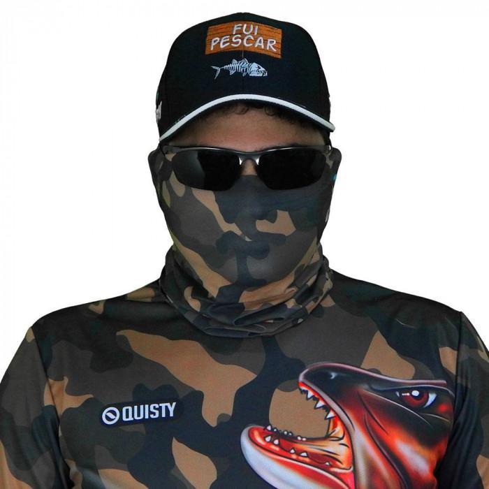 Máscara de Proteção Solar Traíra Força Bruta Camuflado UV 50 PROTECTION - Pesca Esportiva