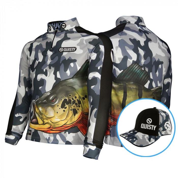 Camisa Raglan Tucunaré Antártida Pesca Esportiva DryUv50 Bone Grátis