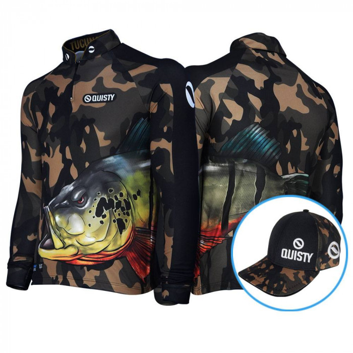 Camisa Raglan Tucunaré Savage Pesca Esportiva DryUv50 Bone Grátis