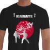 Camiseta - Karatê - Karatecas Treino Técnica de Mão e Chute Flor da Cerejeira Sakura Flor Símbolo do Japão