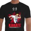 Camiseta - Karatê - Karateca Chute Alto Shorin Ryu Faixa Azul 4 Kyu Quem Pratica Sabe a Força que Tem