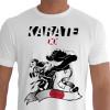 Camiseta - Karatê - Carateca Arte do Chute Perfeito Ushiro Gueri Japão Banner Karate Do