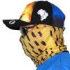 Máscara Bandana de Proteção Solar Escamas Dourado o Rei do Rio