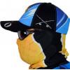 Máscara de Proteção Solar Escamas Tucunaré UV 50 PROTECTION Azul