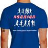Camiseta - Corrida - Atletas Correndo Running Frase Vitórias e Derrotas Passam as Amizades Permanecem Costas Azul