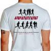 Camiseta - Corrida - Atletas Correndo Running Frase Vitórias e Derrotas Passam as Amizades Permanecem Costas Branca