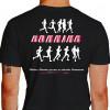 Camiseta - Corrida - Atletas Correndo Running Frase Vitórias e Derrotas Passam as Amizades Permanecem Costas Preta