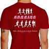 Camiseta - Corrida - Atletas Correndo Running Frase Vitórias e Derrotas Passam as Amizades Permanecem Costas Vermelha