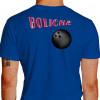 Camiseta - Boliche - Efeito Texto Bola Costas Azul