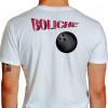 Camiseta - Boliche - Efeito Texto Bola Costas Branca