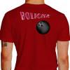 Camiseta - Boliche - Efeito Texto Bola Costas Vermelha