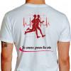 Camiseta - Corrida - Corredores Freqüência Cardíaca Je Cours Pour la Vie Costas Branca