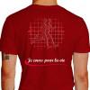 Camiseta - Corrida - Corredores Freqüência Cardíaca Je Cours Pour la Vie Costas Vermelha