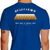 Camiseta - Corrida - Pista de Atletismo Raias Mens Sana in Corpore Sano Atleta Costas Azul