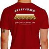 Camiseta - Corrida - Pista de Atletismo Raias Mens Sana in Corpore Sano Atleta Costas Vermelha