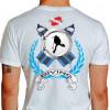 Camiseta - Mergulho - Nadadeiras Escotilha Mergulhador Safo Scuba Diving Costas Branca