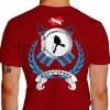 Camiseta - Mergulho - Nadadeiras Escotilha Mergulhador Safo Scuba Diving Costas Vermelha