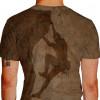 Camiseta - Escalada - Malha Efeito Montanha Rochosa Atleta Escalando Costas Marrom