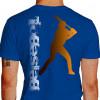 Camiseta - Beisebol - Rebatedor Posição de Tacada Costas Azul