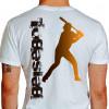 Camiseta - Beisebol - Rebatedor Posição de Tacada Costas Branca