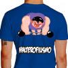 Camiseta - Halterofilismo - Atleta Halterofilista Monstro Barra com Peso Costas Azul